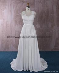 仿古蕾丝雪纺婚纱