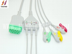 GE 11PIN 3leads clip IEC Patient Cable With Leads