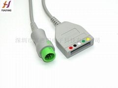Mindray T5 12 pin ECG Trunk Cable
