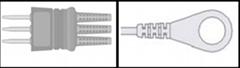 Nihon Kohden Holter Recorder ECG Leadwires      BR-546S
