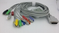 Nihon Kohden  One-piece  EKG Cable With