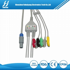 Petas 3leads clip IEC ECG cable and leads