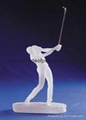 Frosted Sculpture golfter player