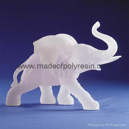 Frosted Sculpture elephant polyresin frosted item resin frost 1