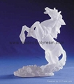 Frosted horse crafts polyresin frosted