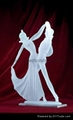 Frosted Dancer Crafts  clear polyresin dancer