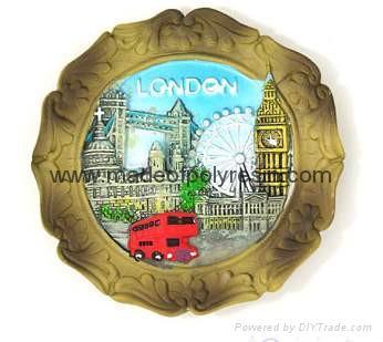 Souvenir plate 15cm Polyresin plate Resin souvenir plate 1