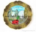 Souvenir plate 15cm Polyresin plate