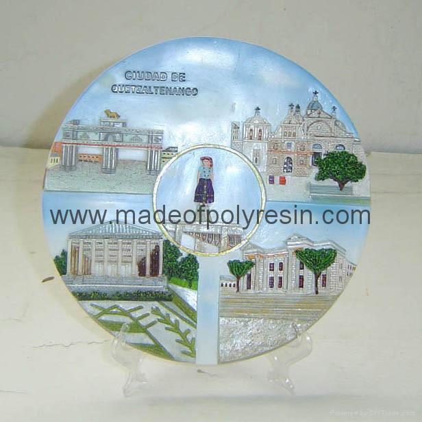 resin tour souvenirs plaque, souvenirs polyresin plaque 1