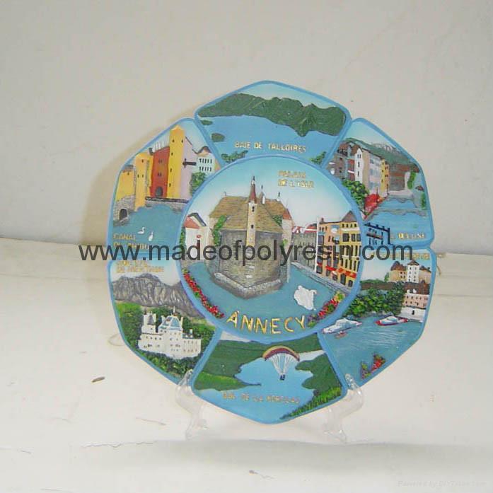 Souvenir plate 20cm Polyresin plate Resin souvenir plate 1