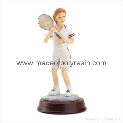 Tennis Girl Figurine Polyresin Figurine Resin Figurine 1