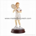 Tennis Girl Figurine Polyresin Figurine