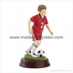 Resin Soccer Boy Figure  Soccer boy figurine