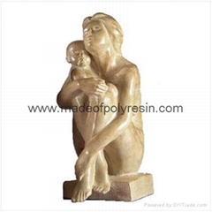 Polyresin Art Reproduction Mother & Child