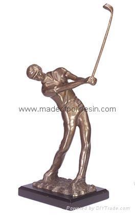 Polyresin Golf  player Resin Golf player statue 1