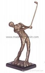 Polyresin Golf  player Resin Golf player statue