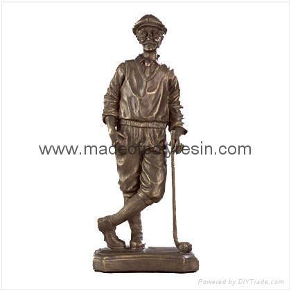 Polyresin Liberty Bronze Golfer 1