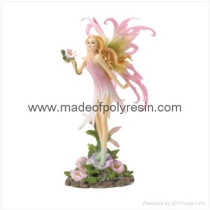Polyresin Fairy Holding Flower Figurine 1