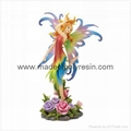 Polyresin Fairy and Rose Figurine 1