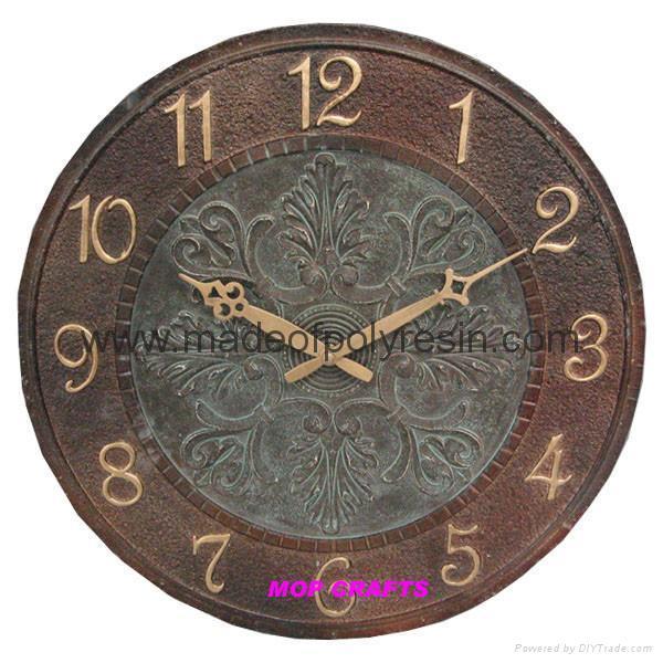 polyresin wall clock resin wall clock garden wall clock 1