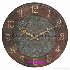 polyresin wall clock resin wall clock garden wall clock