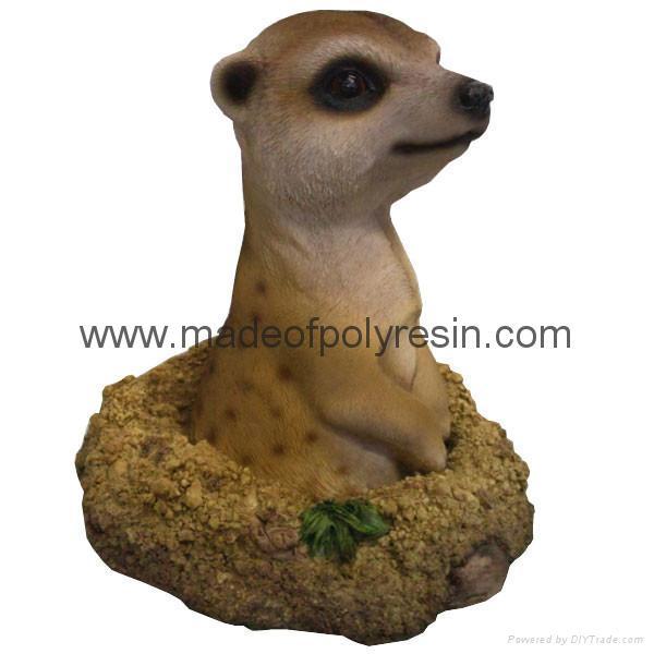 garden ornament garden decoration garden groundhog meerkat