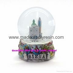 snow globe resin snow globe  polyresin snow globe