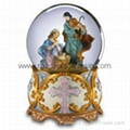 religious water globes nativity snow