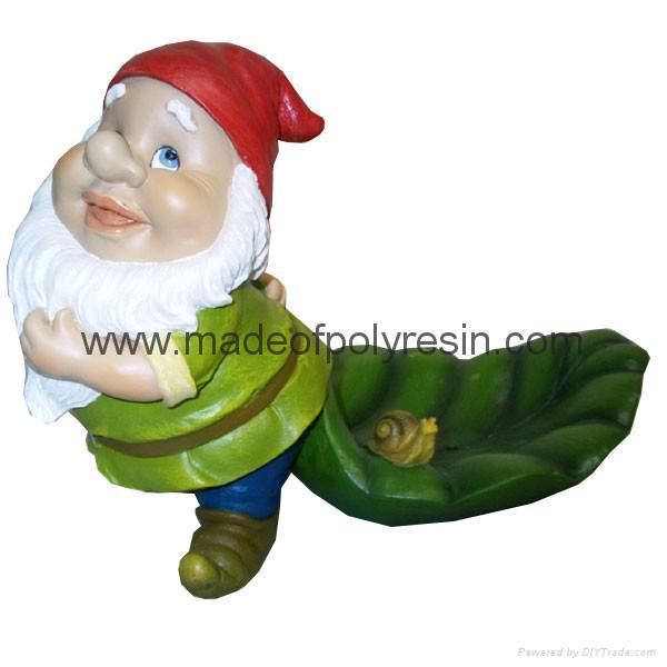 polyresin gnome statue garden gnome ornament  1