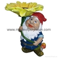 garden elf ornament  polyresin elf