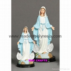 Polyresin Mary  Resin Mary Statue