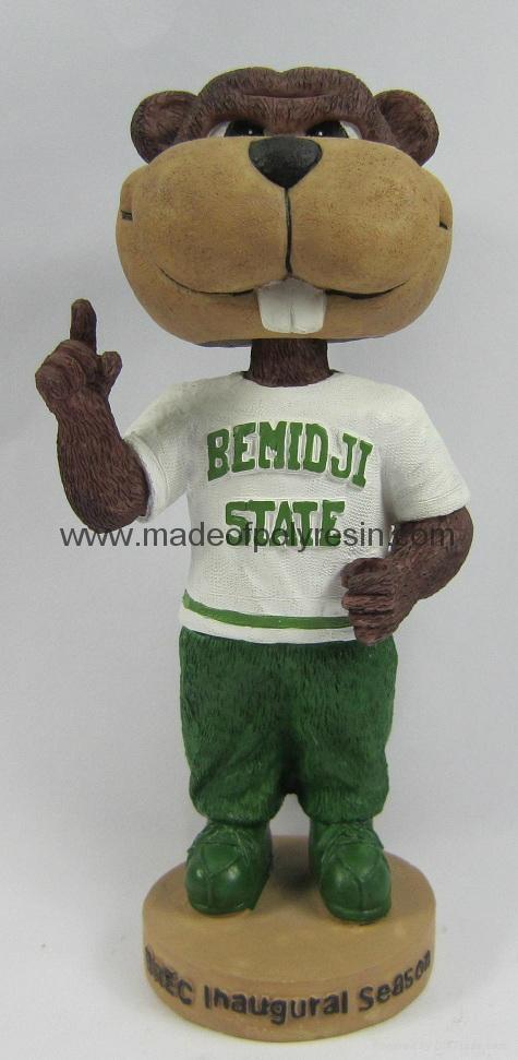Resin Mascot Bobblehead, Pesonalized Sporting Mascot Bobble Head 1