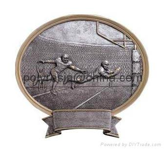 polyresin sports trophy, trophy awards magnet, wall plaque 1