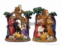 polyresin catholic figurine, christian religious statue