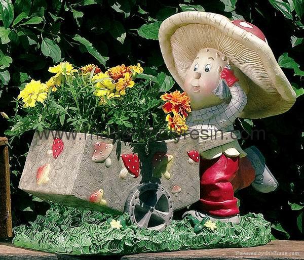 resin decoration,polyresin garden planter  1