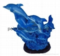 polyresin dolphin, dolphin statue crafts
