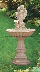 Polyresin  fairy maid with  pump fountain, garden fountain