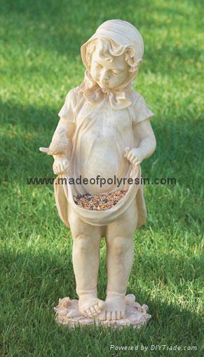 polyresin garden bird feeder, garden decoration 1