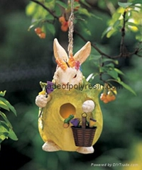 polyresin birdhouse,resin garden birdhouse