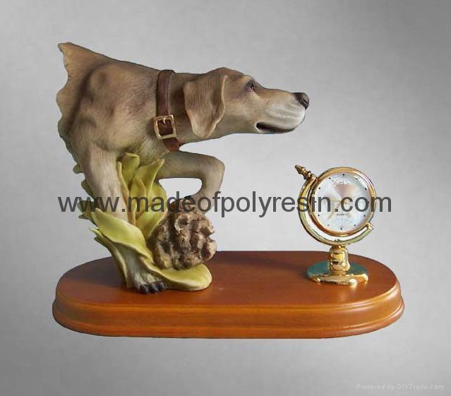 polyresin dog statue, dog figurine, dog decoration
