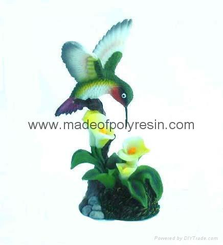 polyresin humming birds ,birds decor,birds statue 1