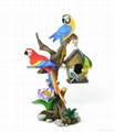 Polyresin parrot,sitting parrot,parrots on branch