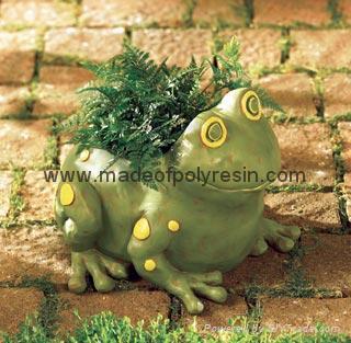polyresin garden frog,frog crafts,garden frog 1