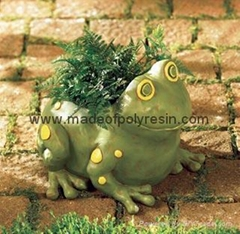 polyresin garden frog,frog crafts,garden frog