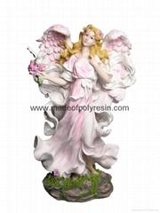 polyresin standing fairy, resin fairy, fairy statue
