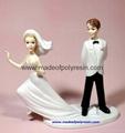 polyresin wedding statue, resin marry
