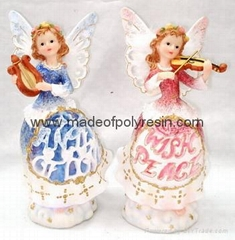 polyresin fairy box,resin fairy ring box,sitting fairy
