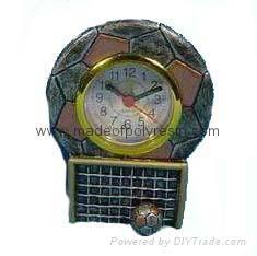 resin football trophy & awards clock 1