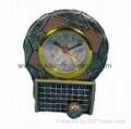 resin football trophy & awards clock