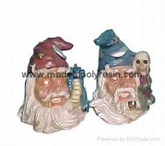 polyresin wizard ,resin wizard figurine